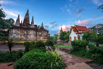 Wat Chet Yot, temple de sept pagodes Une attraction touristique à Chiang Mai, en Thaïlande.
