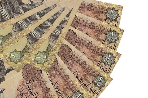 1 banconote da una sterlina egiziana si trova isolato su bianco
