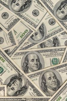 100 banconote da cento dollari americani come struttura senza soluzione di continuità e superficie per il design
