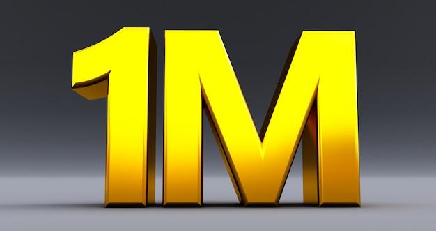 1 m, 1 milione di celebrazioni simili o seguaci