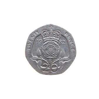 Moneta da 20 pence, regno unito