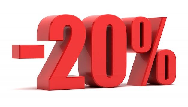 Il testo di 3d sconto del 20 per cento