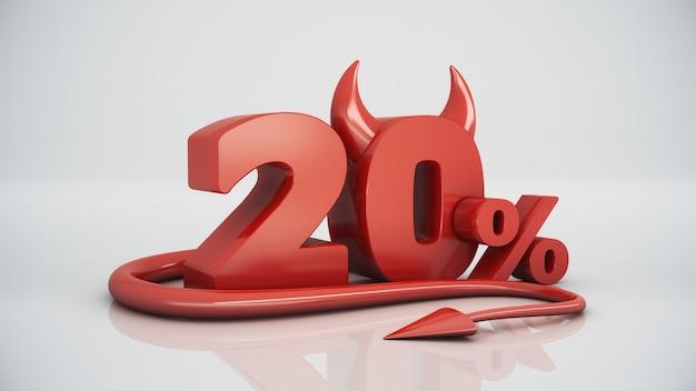 20 per cento diavolo rosso