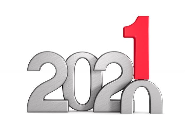Anno nuovo 2021. illustrazione 3d isolata
