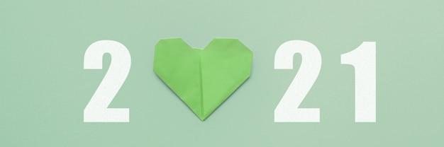 2021 con cuore verde