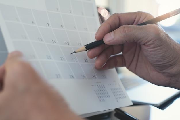 Piano dell'agenda dell'agenda del calendario dell'organizzatore di eventi del calendario 2022