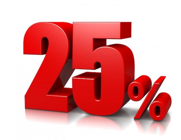 25 percento