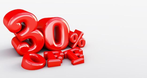 30% di sconto isolato. trenta per cento di sconto. sconto 30%