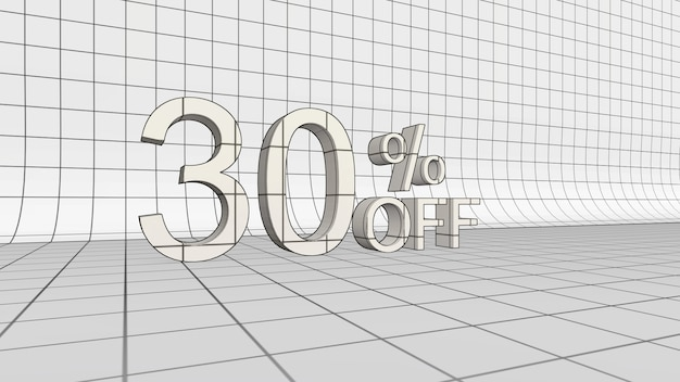 30% di sconto sul rendering 3d