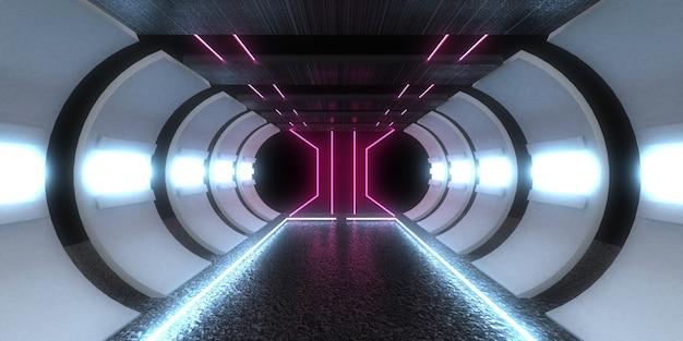 Sfondo astratto 3d con luci al neon