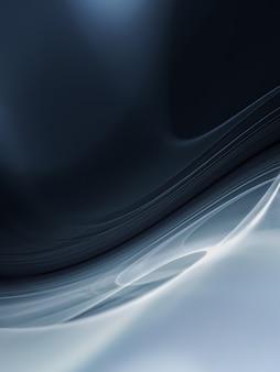 Sfondo astratto 3d con forme bianche e nere