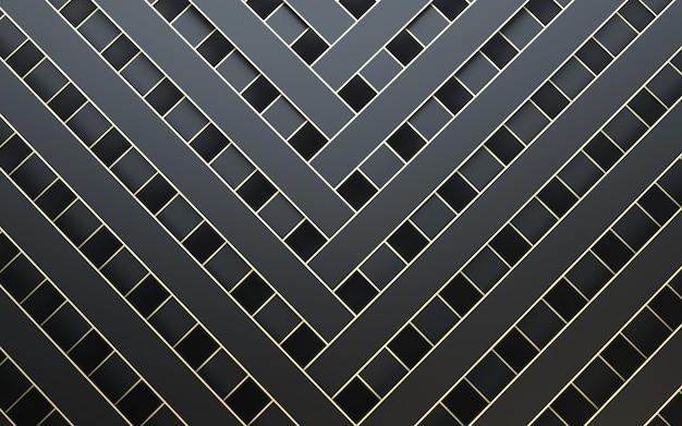 Fondo nero e oro astratto di struttura del metallo 3d