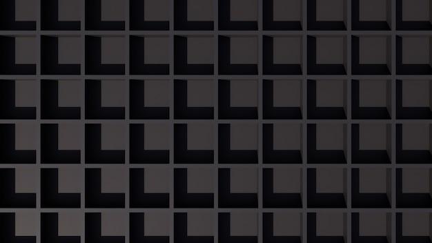 Fondo nero elegante astratto della carta da parati 3d