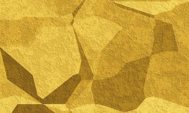3d astratto oro e sfondo nero