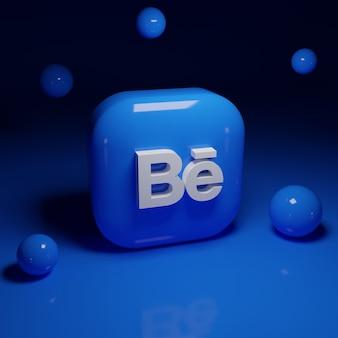 Applicazione del logo behance 3d