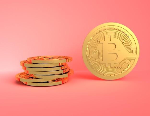 3d bitcoin concept.3d reso illustrazione
