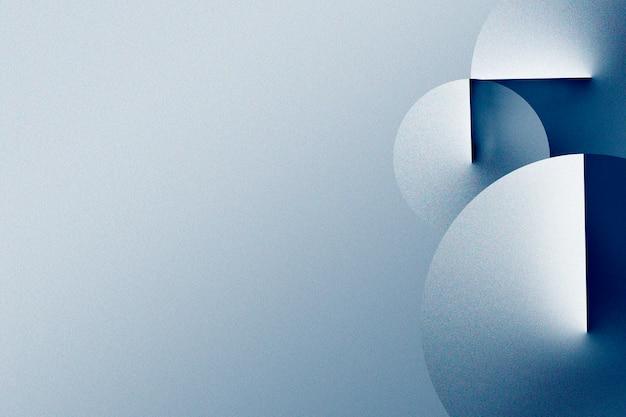 Motivo geometrico blu 3d su uno sfondo sfumato