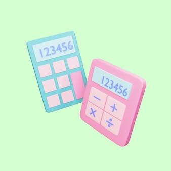 L'oggetto della calcolatrice 3d ha reso l'illustrazione isolata