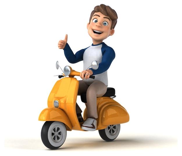 Adolescente divertente del personaggio dei cartoni animati 3d