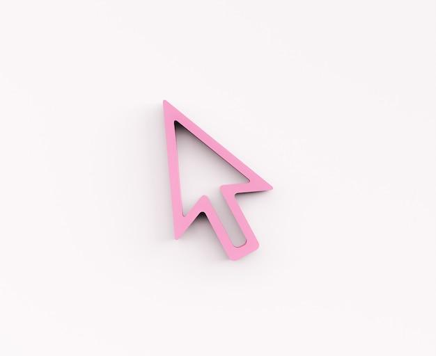 Freccia del cursore del computer 3d