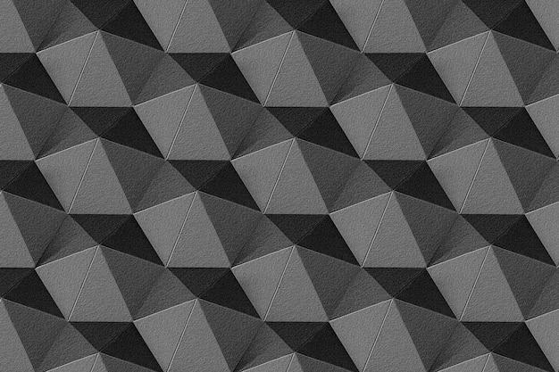 Sfondo con motivi ettagonali in carta grigio scuro 3d