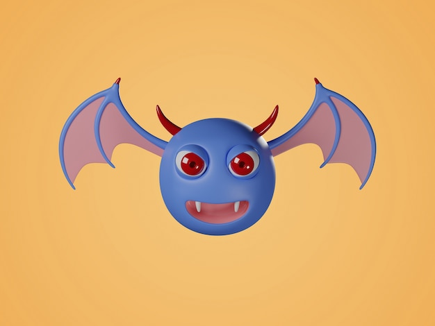 Illustrazione digitale 3d di pipistrello sorpreso.
