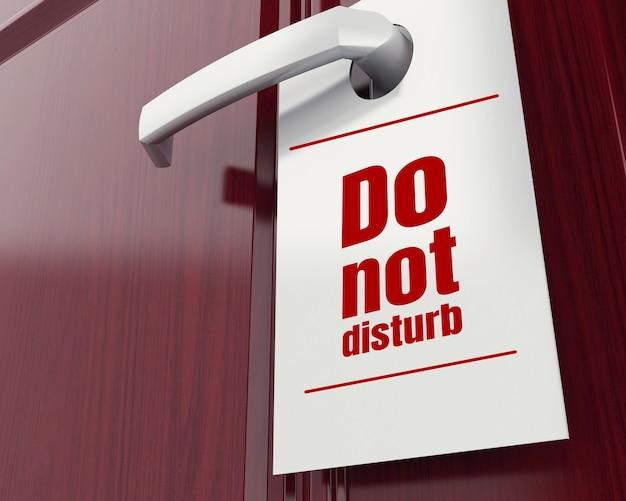 3d non disturbare segno.