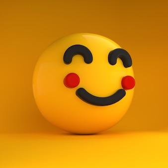 Sensazione felice di emoji 3d