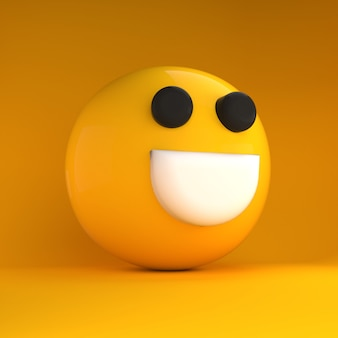 3d emoji felice