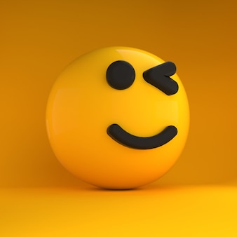 Emoji 3d con sensazione di sorriso