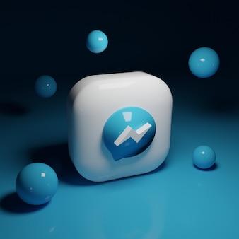 Applicazione logo 3d facebook messenger