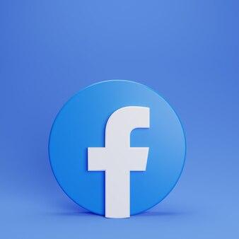 Logo 3d facebook stand modello minimal design semplice