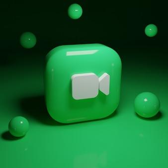 Applicazione logo 3d facetime