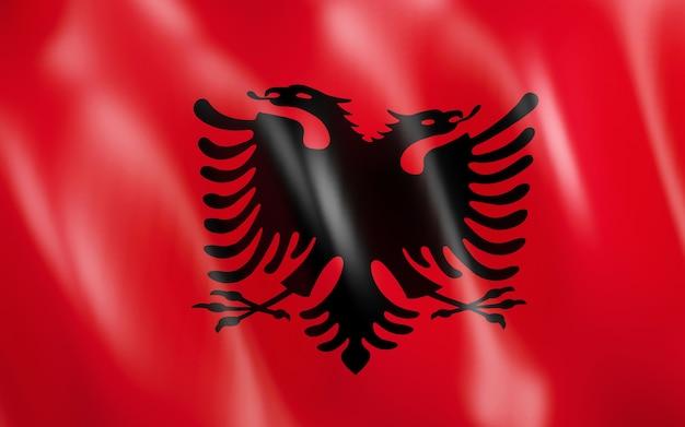 Bandiera 3d dell'albania.