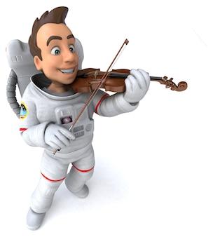 Illustrazione 3d di un astronauta volonist