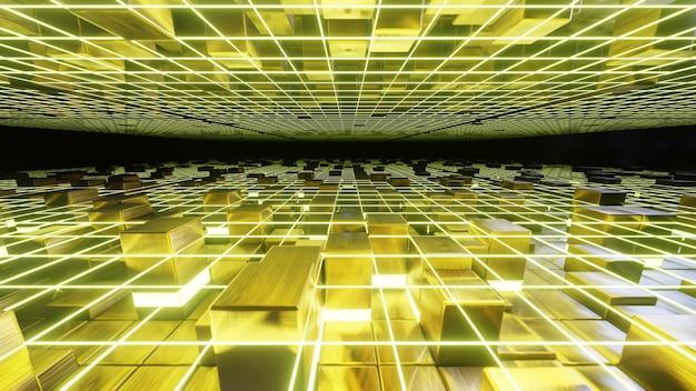 Illustrazione 3d sfondo per pubblicità e carta da parati nella scena della festa di lusso e di moda. rendering 3d nel concetto decorativo.