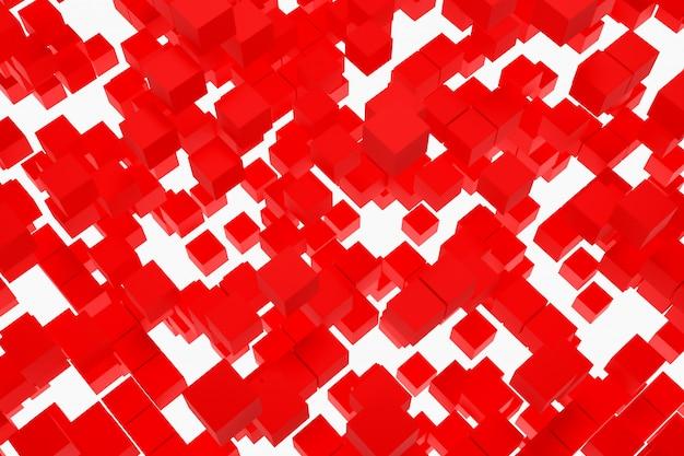 Fondo dell'illustrazione 3d, struttura di un gran numero di forme geometriche delle colombe di dimensioni e forme differenti.
