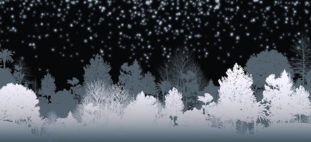 Illustrazione 3d di splendide viste panoramiche sulle montagne e sugli alberi ha una profonda fase di risveglio