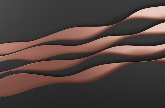 Illustrazione 3d design in stile arte astratta nera per sfondi di siti web o pubblicità