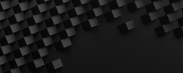 Illustrazione 3d texture astratta nera. lo stile di arte della carta può essere utilizzato nella progettazione di copertine, sfondi di siti web o pubblicità.