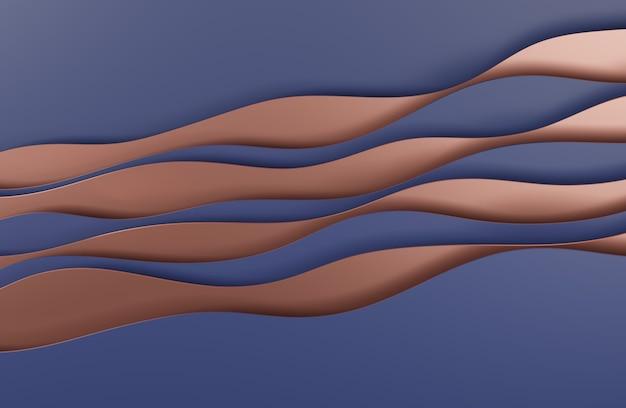 Illustrazione 3d design in stile arte astratta blu per sfondi di siti web o pubblicità