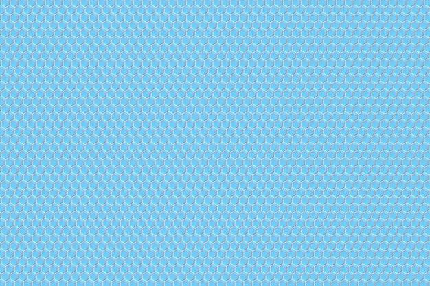 Illustrazione 3d di un favo monocromatico blu del favo per miele.