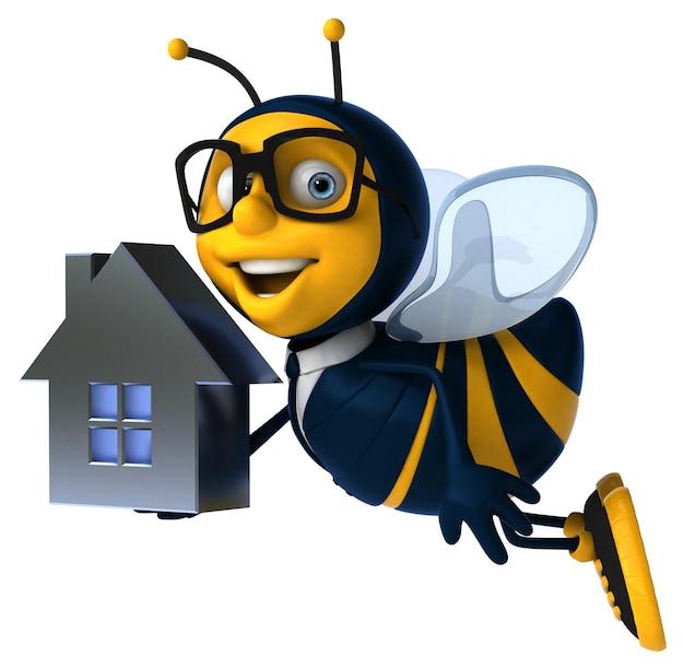 Illustrazione 3d di un'ape d'affari