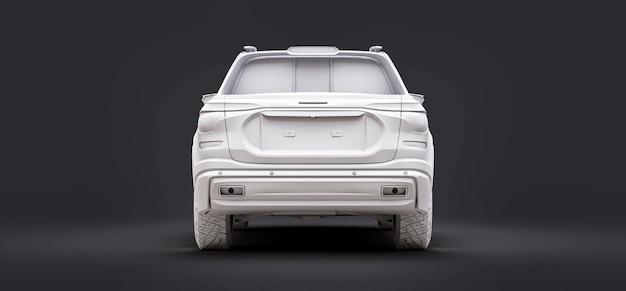 3d illustrazione del concetto di camioncino del carico su sfondo grigio isolato. rendering 3d.