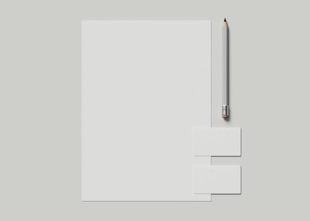Illustrazione 3d. identità aziendale. mockup di set di marchi fissi.