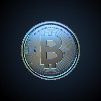 3d illustrazione di criptovaluta digitale bitcoin