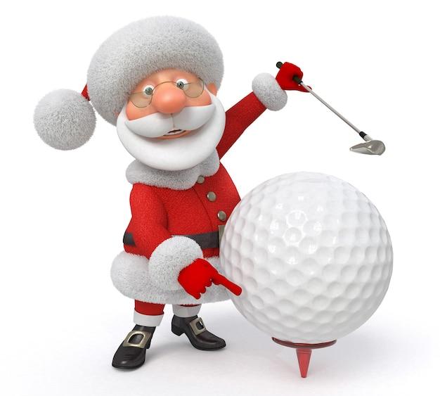 Illustrazione 3d il personaggio delle fiabe gioca a golf