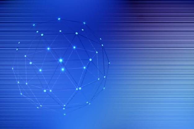 Illustrazione 3d. linee di rete globale con fondo astratto di connessione punti. concetto di business globale. spazio per il testo