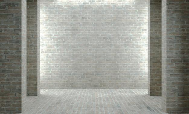 Illustrazione 3d. muro di mattoni o cemento grigio. edilizia industriale