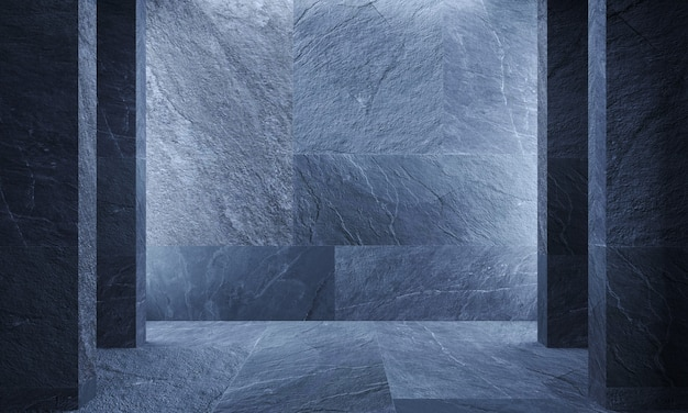 Illustrazione 3d. pietra grigia della parete marmo granito ardesia